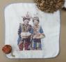 四層紗布方巾