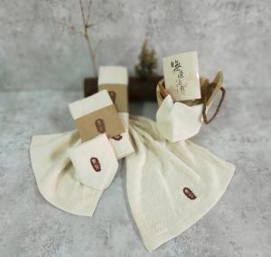 輕旅包-無染經典2童巾2手帕