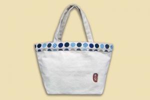 普普風手提袋(藍色)