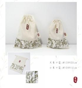 綠葉束口袋(大)