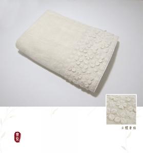 幸運草蕾絲浴巾