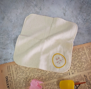 FUN數字紗布方巾-0