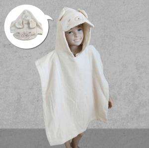 俏皮豬造型浴袍--套袍