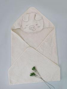 糖酸丸-BABY俏皮豬帽子包巾