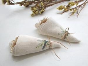 花束隨手方巾組(2入)-草花