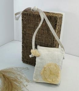 銀杏葉簡約竹節紗側背包