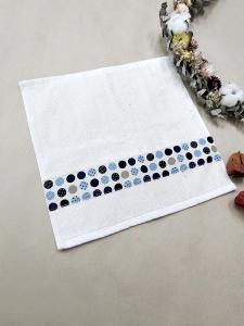 普普風藍色方巾