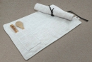 Simple and fashionable linen slub dining mat