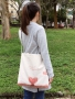 Hand painted style double use canvas bags -sakura