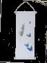 藍染蝴蝶掛軸-長