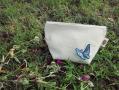 藍染蝴蝶萬用包