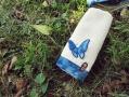 藍染蝴蝶方巾