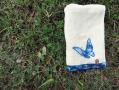 藍染蝴蝶毛巾