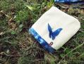 藍染蝴蝶浴巾