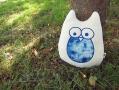 藍染貓頭鷹抱枕(圓眼睛)