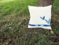 藍染蝴蝶抱枕